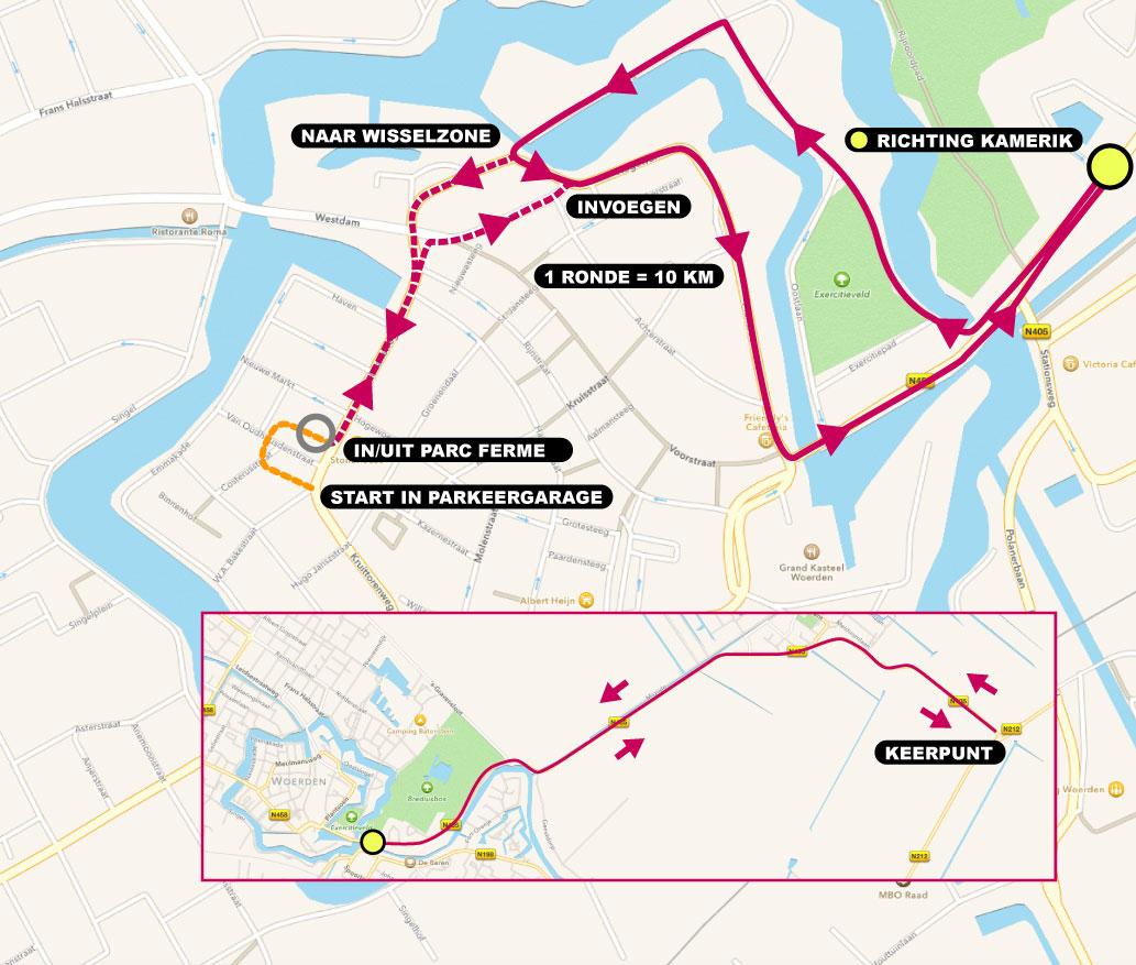 fietsparcours Triathlon Woerden