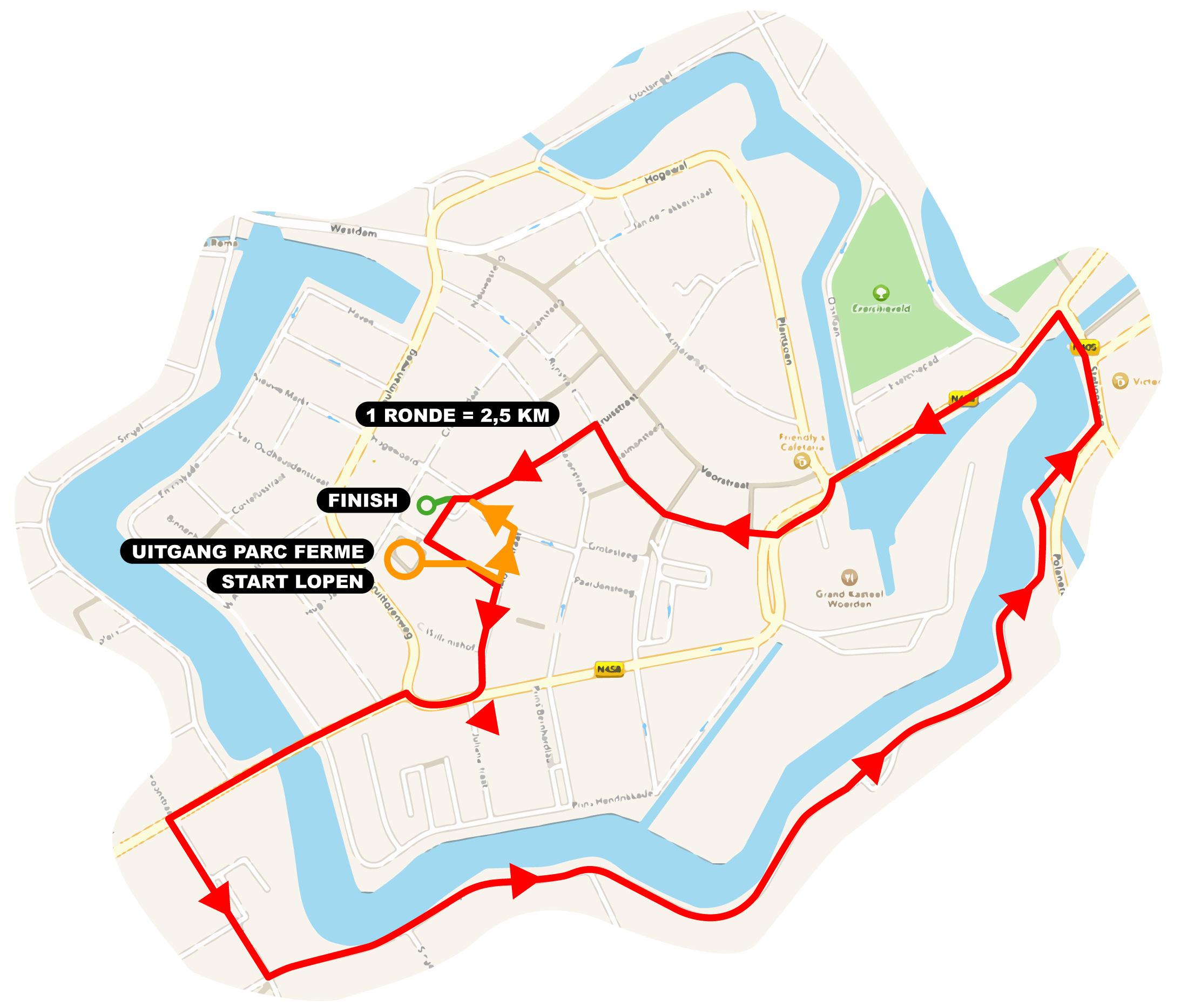 loopparcours Triathlon Woerden