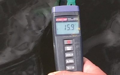 Watertemperatuur gedaald